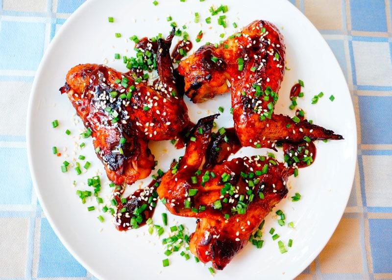 Хрустящие куриные крылышки фото