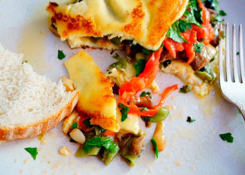 Рецепт Омлет с овощным рагу фото