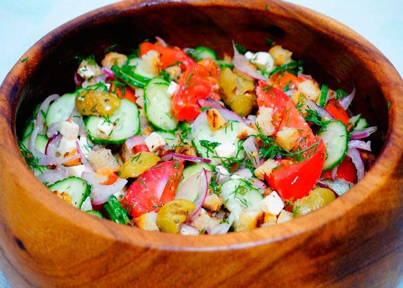 Греческий салат по новому рецепт фото