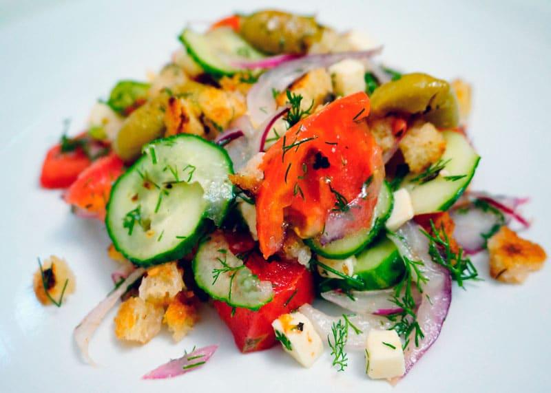 Рецепт греческий салат по новому фото