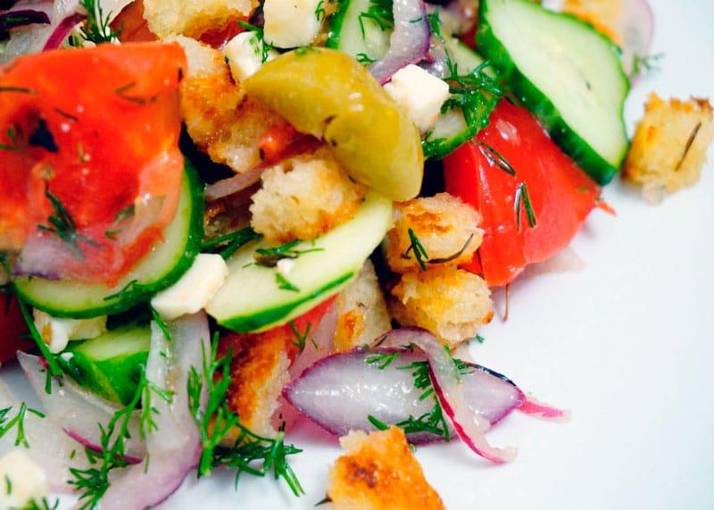 Греческий салат по новому приготовление фото