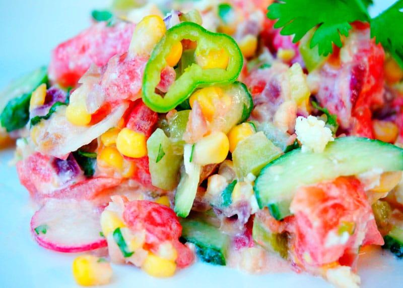 Рецепт кукурузный салат фото