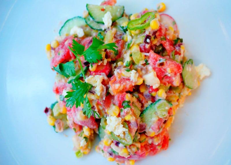 Кукурузный салат фото