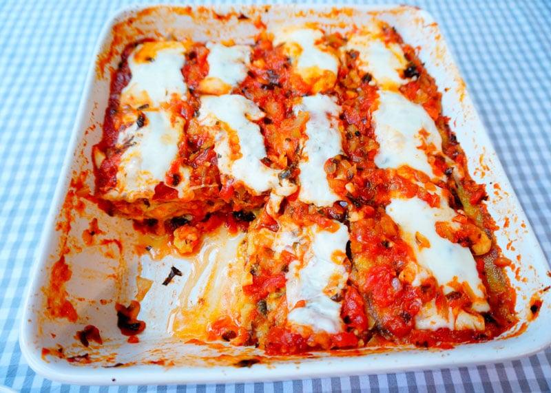 Рецепт овощная лазанья из баклажанов фото