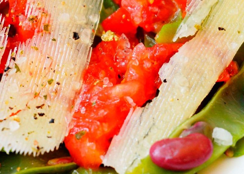 Салат из зеленой фасоли с помидорами рецепт фото