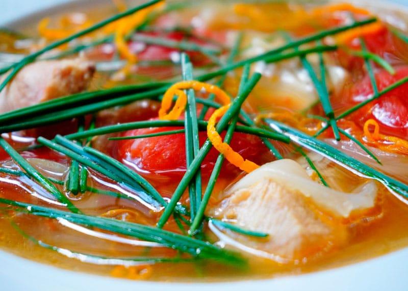 Суп из цыпленка по-индийски фото