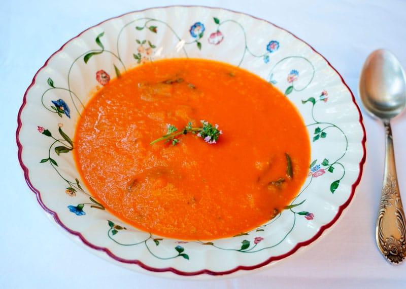 Суп из запеченных помидоров фото