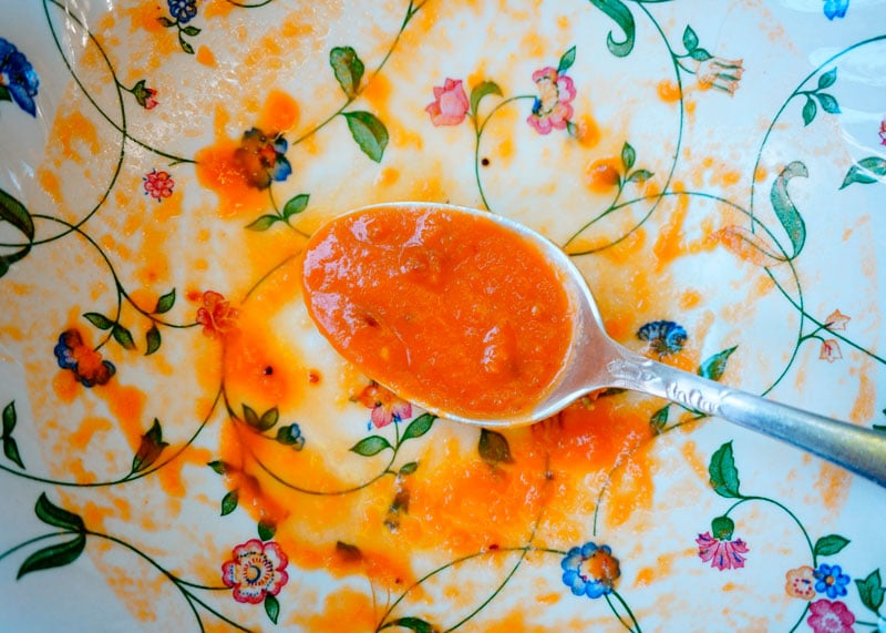 Суп из запеченных помидоров и перцев рецепт фото