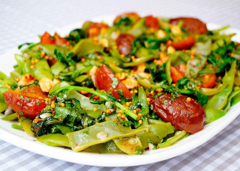 Рецепт зеленая фасоль с маринованными сливами фото