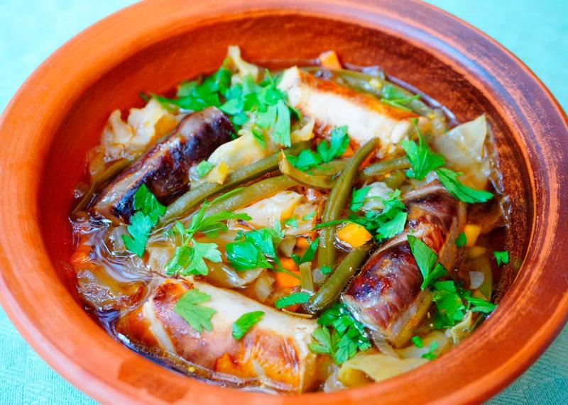 Колбасный суп фото