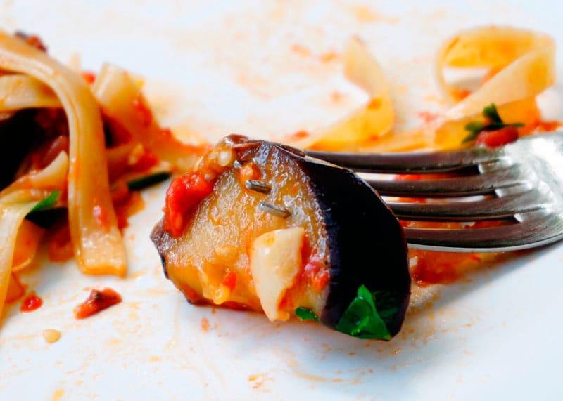 Паста с жаренными баклажанами рецепт фото
