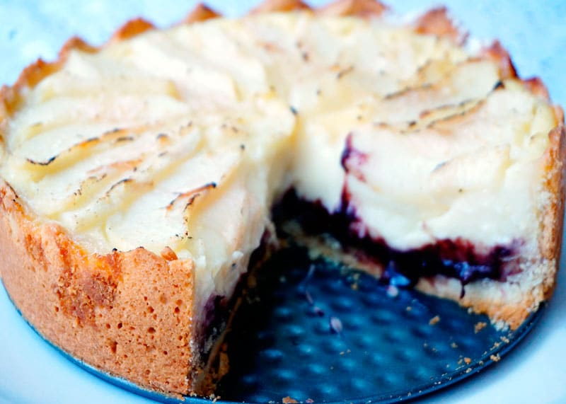 Пирог с заварным кремом и грушами рецепт фото