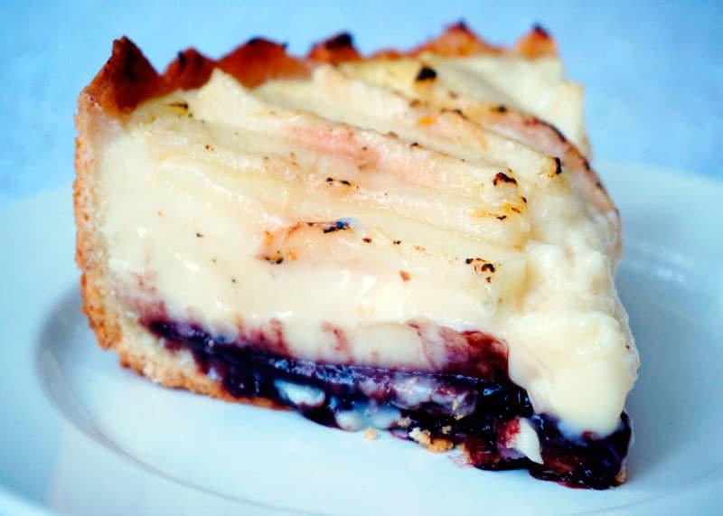 Пирог с грушами и заварным кремом приготовление фото
