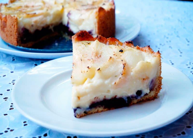 Рецепт пирог с заварным кремом и грушами фото