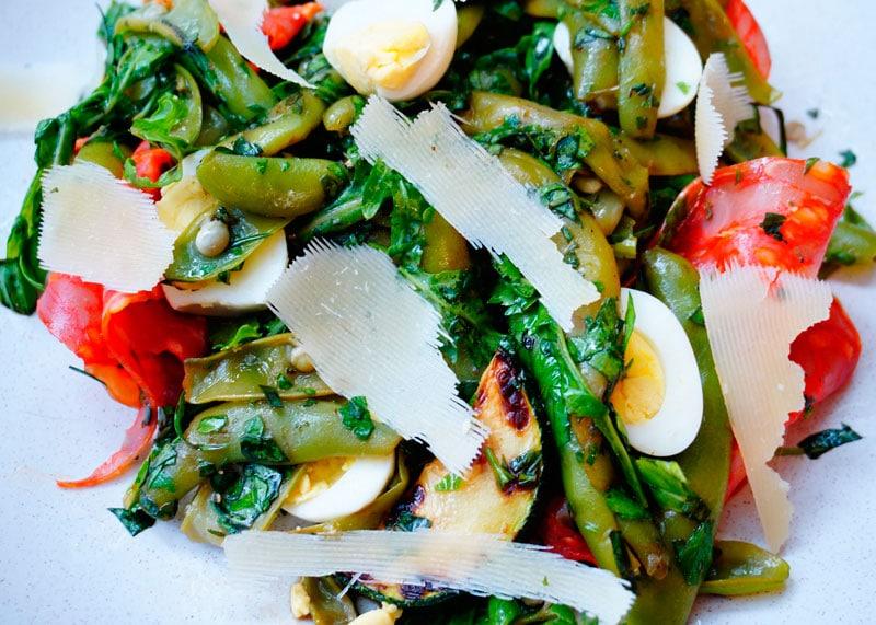 Салат со стручковой фасолью и эстрагоном рецепт фото