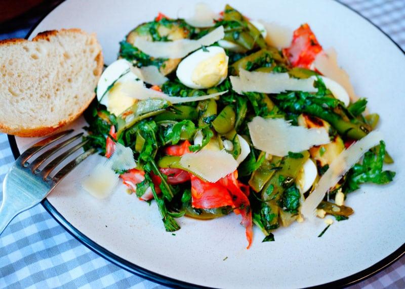 Салат со стручковой фасолью и эстрагоном фото