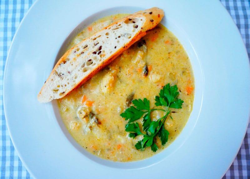 Сырный суп с цветной капустой приготовление фото