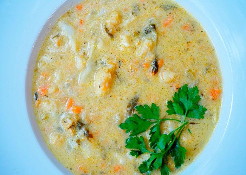 Сырный суп с цветной капустой фото
