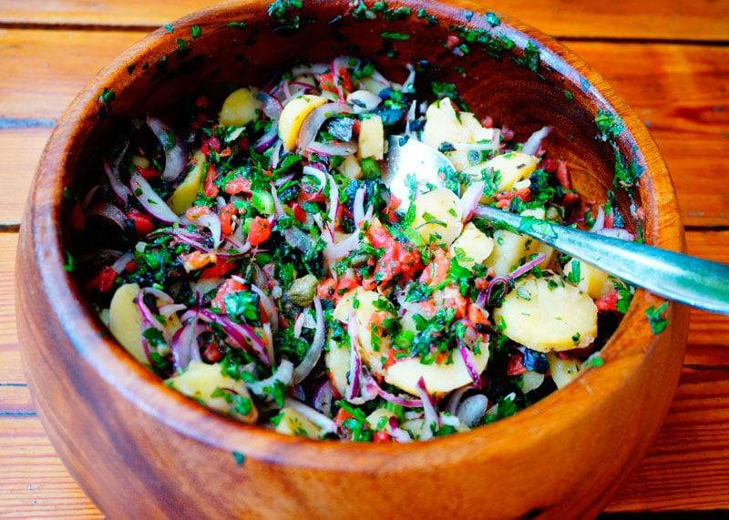 Итальянский картофельный салат приготовление фото
