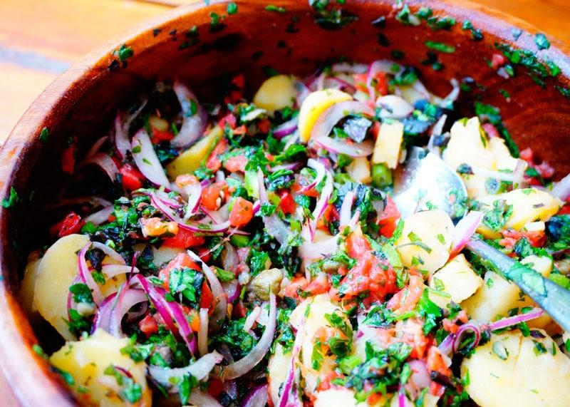 Итальянский картофельный салат фото