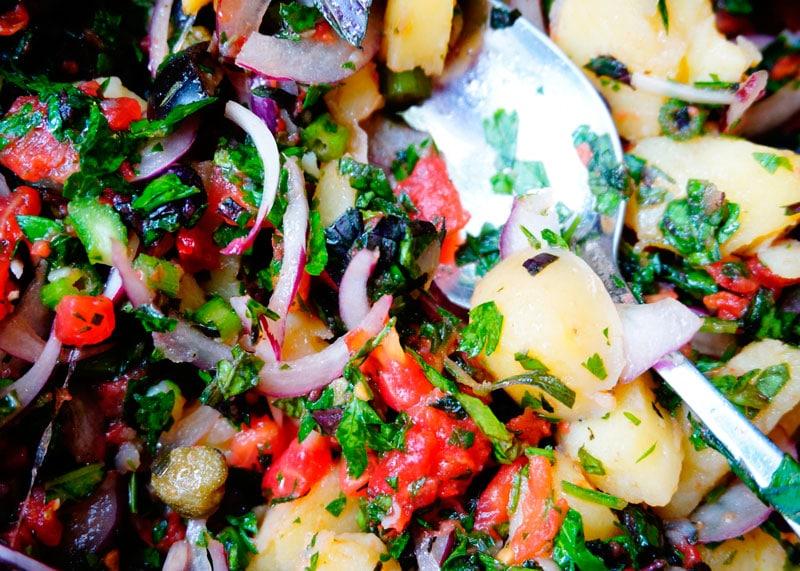 Итальянский картофельный салат рецепт фото