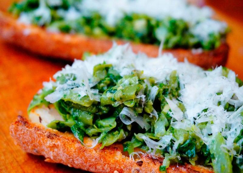 Кростини с зеленой фасолью рецепт фото