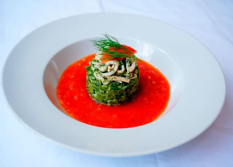 Рецепт салат из кальмаров и укропа фото