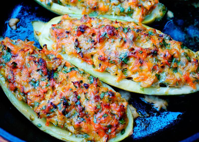 Рецепт фаршированные кабачки с рыбой фото