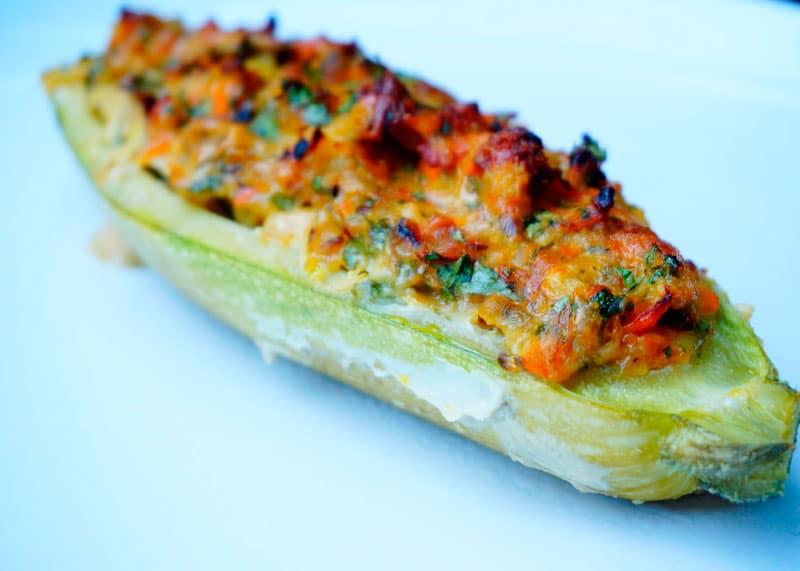Фаршированные кабачки с рыбой рецепт фото