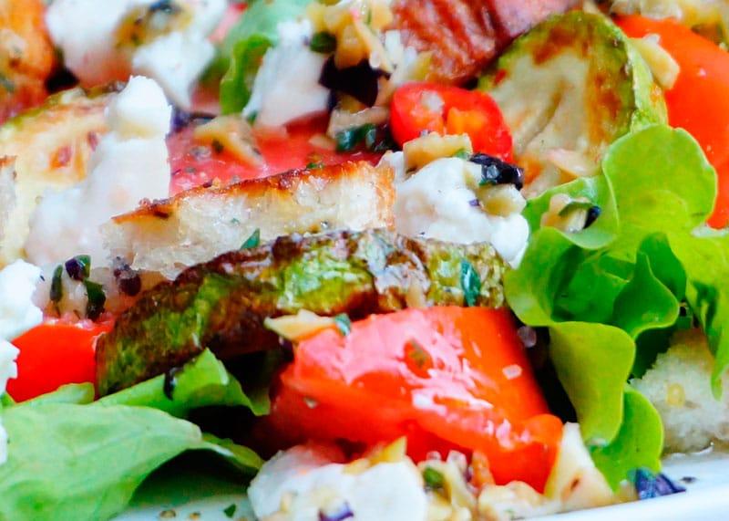Салат из жаренных кабачков рецепт фото