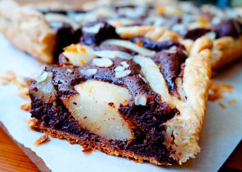 Шоколадно-грушевый тарт рецепт фото