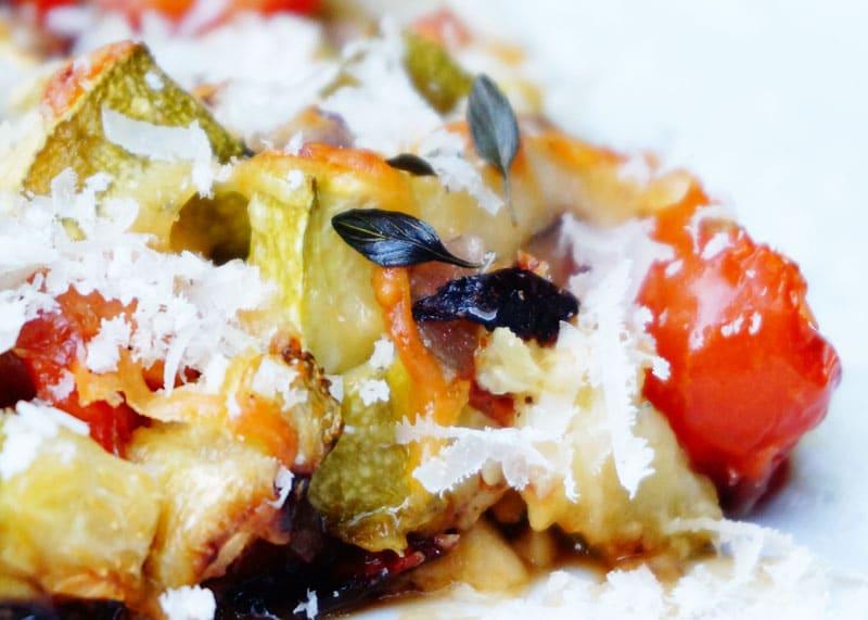 Цуккини запеченные с помидорами рецепт фото