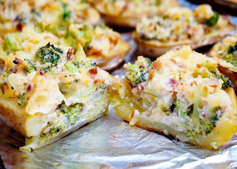 Картофель с начинкой из брокколи рецепт фото