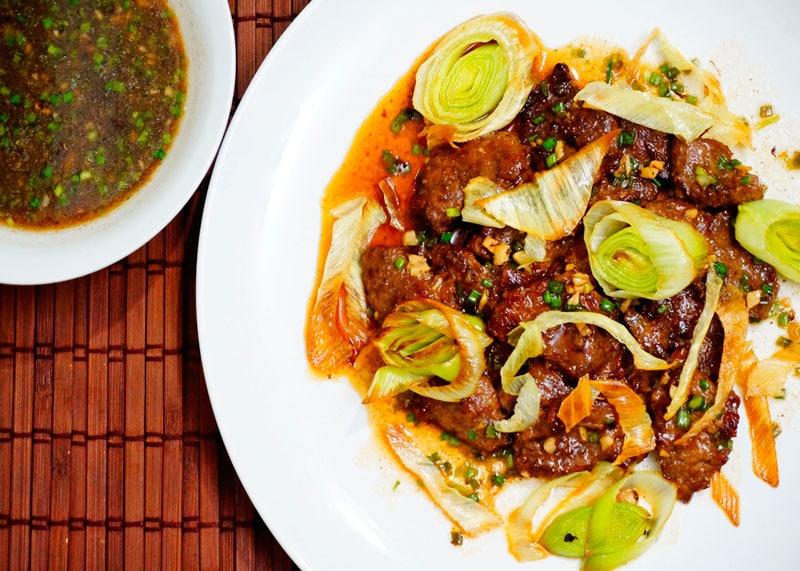 Мясо по-монгольски фото