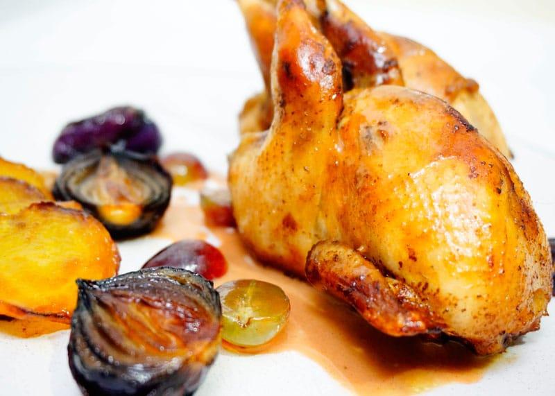 Перепелка с виноградным соусом приготовление фото