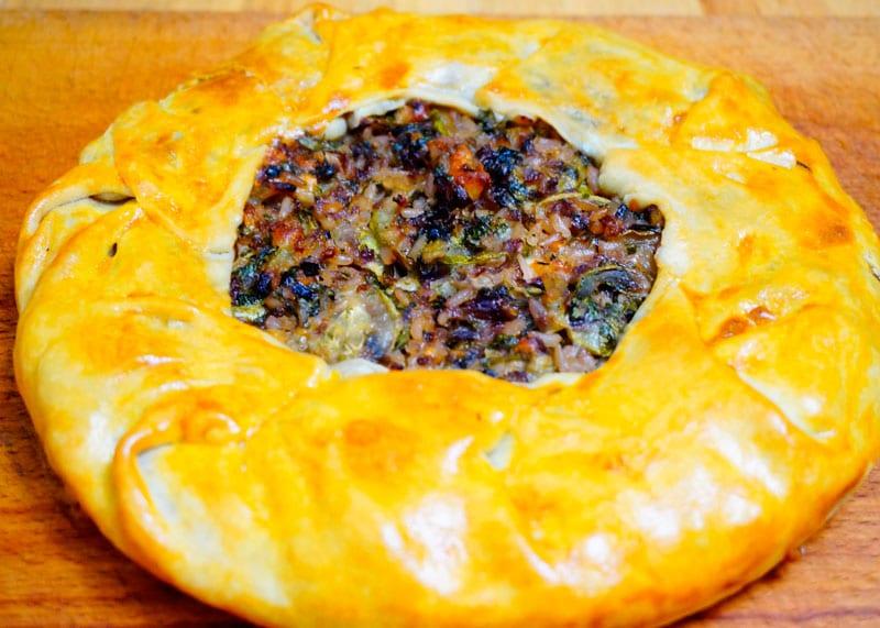 Пирог с цуккини и зеленью приготовление фото