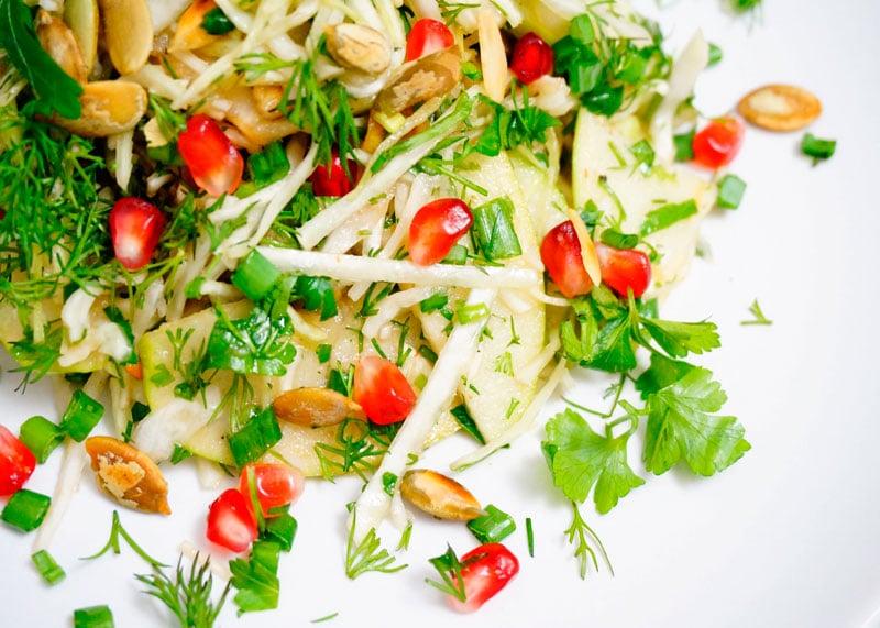 Салат из капусты и граната рецепт фото