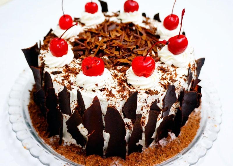 Торт Черный лес приготовление фото