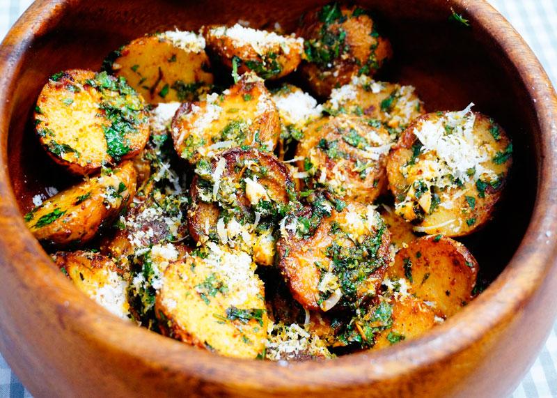 Картофель с петрушкой и лимоном рецепт фото