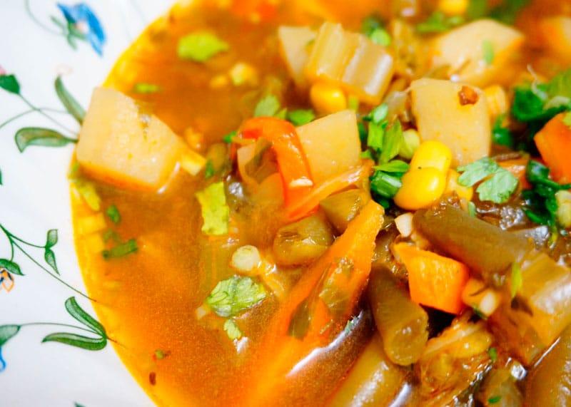 Овощной суп на каждый день фото