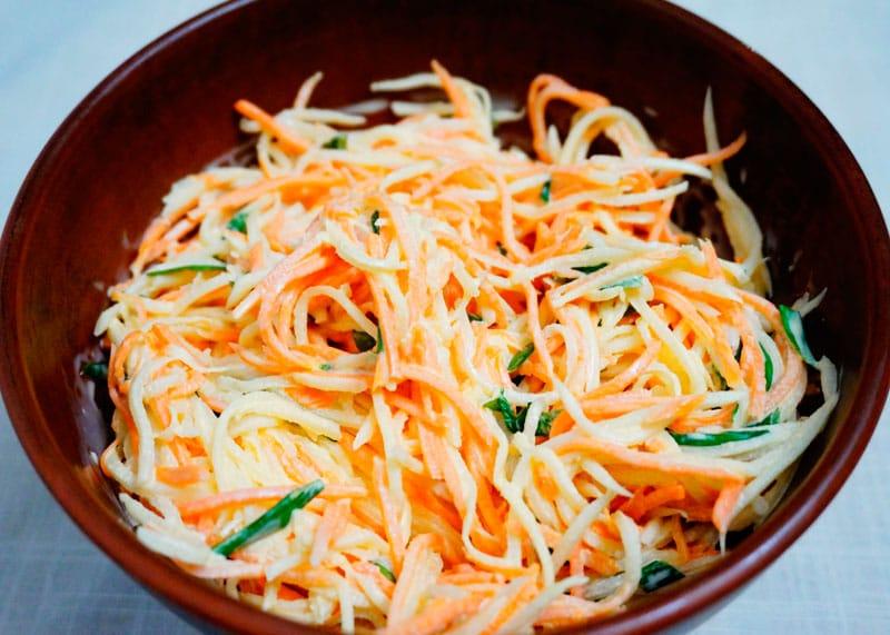 Салат из редьки и моркови фото