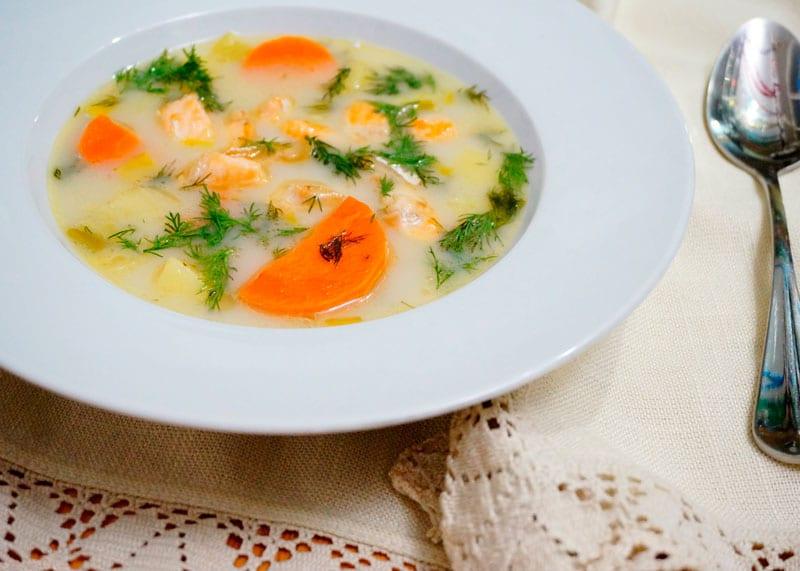 Суп из лосося лохикейто рецепт фото