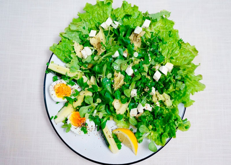 Зеленый салат по-австрийски приготовление фото