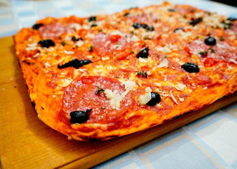 Пицца в сицилийском стиле рецепт фото