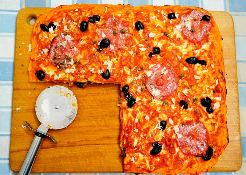 Пицца в сицилийском стиле рецепт приготовления фото