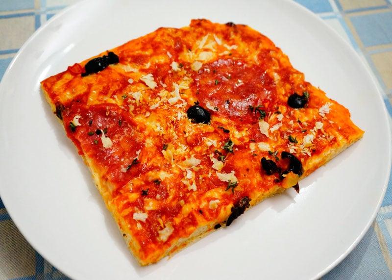 Пицца в сицилийском стиле приготовление фото