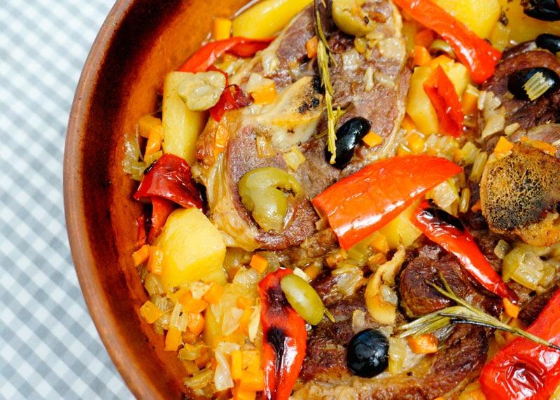 Рагу из баранины с картофелем фото