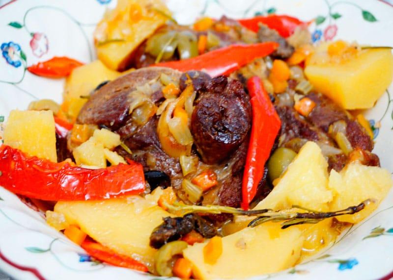 Рагу из баранины с картофелем приготовление фото