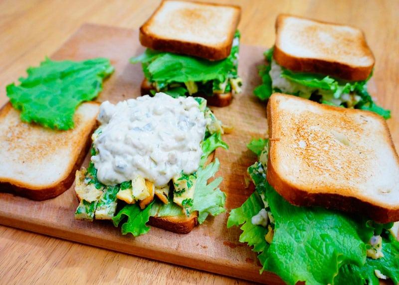 Сэндвичи с яичным салатом фото