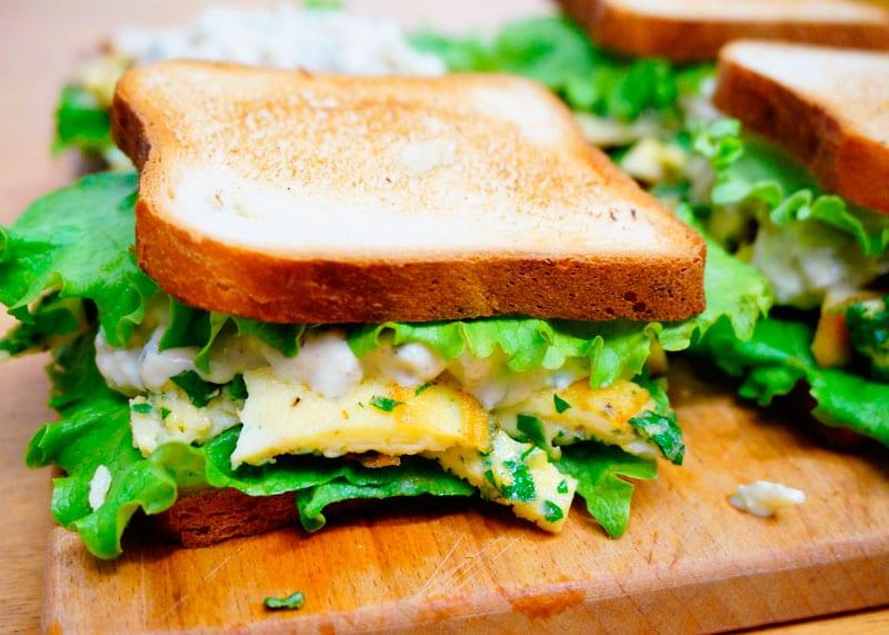 Сэндвичи с яичным салатом рецепт фото